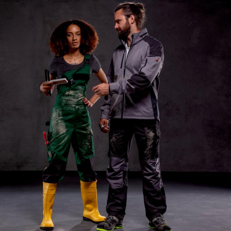 Arbeitskleidung Cetus, Knöpfe und Reißverschlüsse sind aus speziellem Kunststoff gearbeitet, die von Metaldedektoren nicht erkannt werden, 65 % Polyester, 35 % Baumwolle – ca. 245 g/m², waschbar bei 60 °C, Industriewäsche geeignet