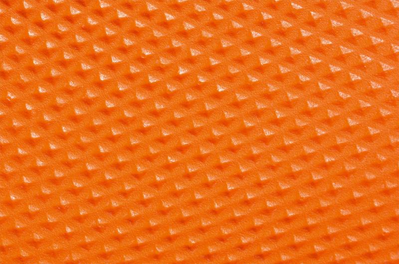 Luva de nitrilo laranja descartável - 2