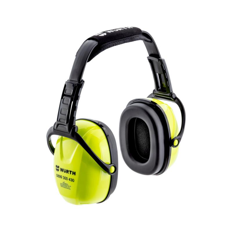 Kapselgehörschutz WNA 200/F  Mit sehr guter Dämmleistung, höhenverstellbarem Kopfbügel und fluoreszierenden Kapseln.