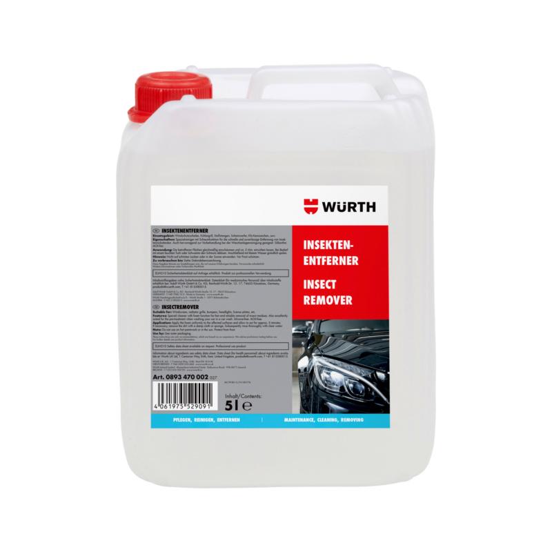 Insektenentferner 5 Ltr.  Spezialreiniger für die schnelle und zuverlässige Entfernung von Insektenresten auf Glas, Chrom, Lack und Kunststoffoberflächen.