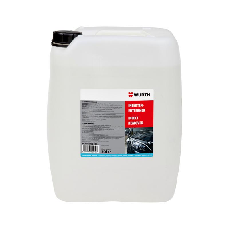 Insektenentferner 20 Ltr.  Spezialreiniger für die schnelle und zuverlässige Entfernung von Insektenresten auf Glas, Chrom, Lack und Kunststoffoberflächen.