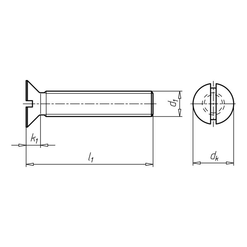 Senkkopfschraube DIN 963 verzinkt mit Schlitz Senkschraube