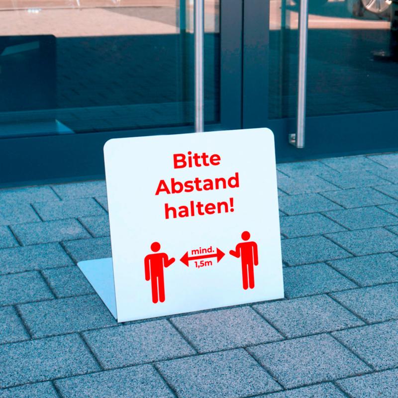 Aufsteller 'Bitte Abstand halten – mind. 1,5 m'