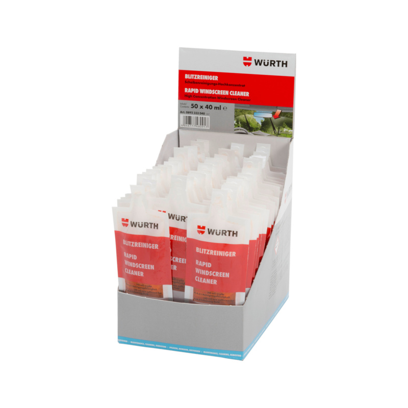 Windscreen cleaner Flash cleaner in display carton - CLNR-WSCRN-SUM-RAPID-32ML