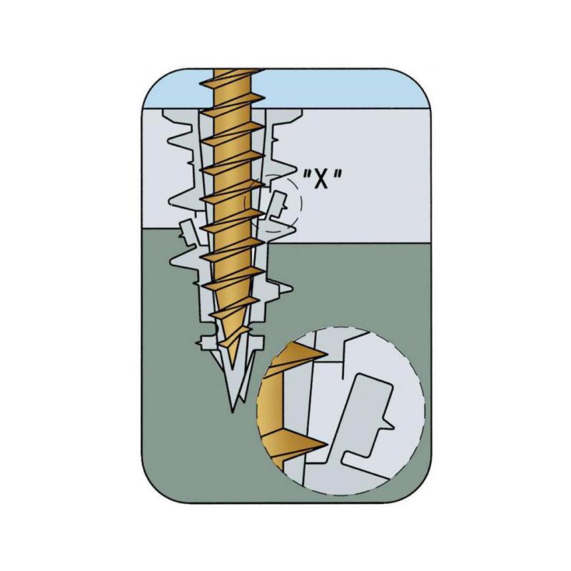 Cheville pour plaque de plâtre W-GS avec vis - 0
