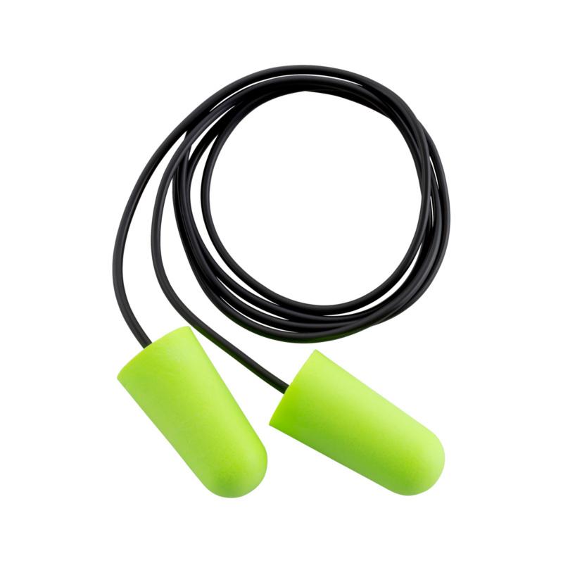 Gehörschutzstöpsel mit Kordel x-100  Ergonomisch, konisch vorgeformte Einweg-Gehörschutzstöpsel für den Einsatz in extrem lärmbelasteter Umgebung.
