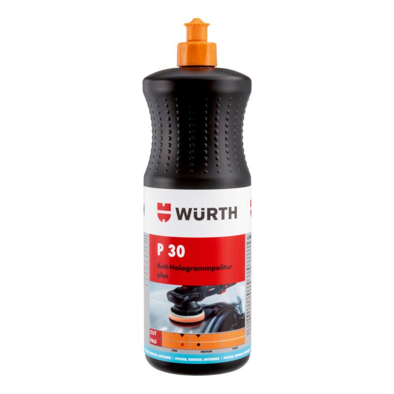 Antihologramm-Politur P30 Plus, 1000g Hochglanz-Finish-Politur zur dauerhaften Beseitigung von Schleiern und Hologrammen auf dunklen Fahrzeuglacken.