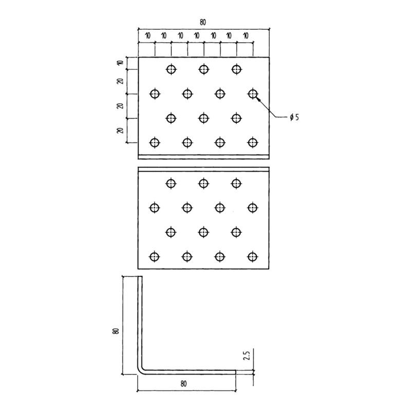 Perforated angle bracket - 0681888250