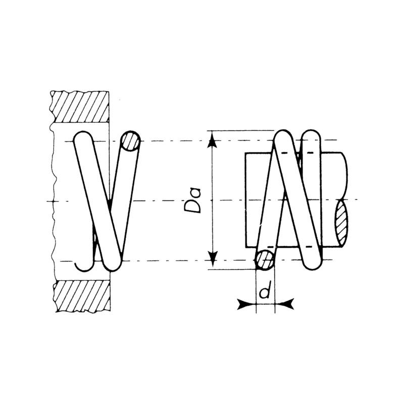 Ressort de compression au mètre - RESSORT PRESSION A/METRE    1,8X15