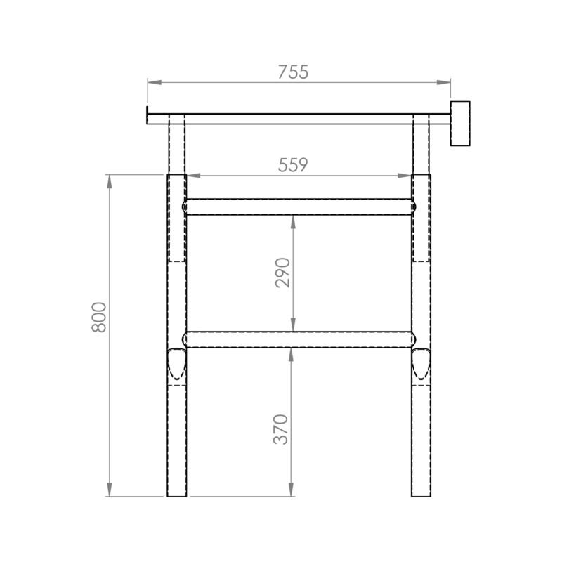 Cavalete extensível 80 - 140 cm - CAVALETE P/ TRABALHOS ELEVADOS 80-140CM