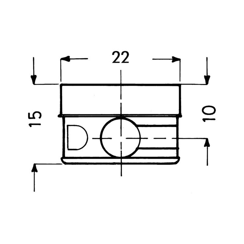 Raccord excentrique22 - EXCENTRIQUE SUPERBLOCK D 22MM