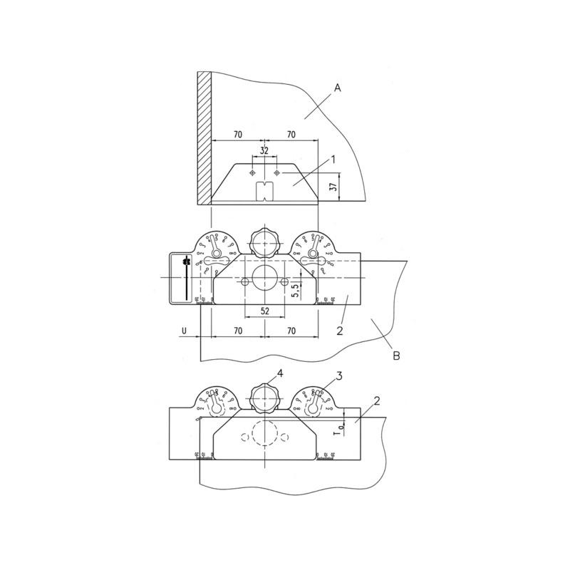 Gabarit de perçage pour charnières invisibles SBL-3 - 0