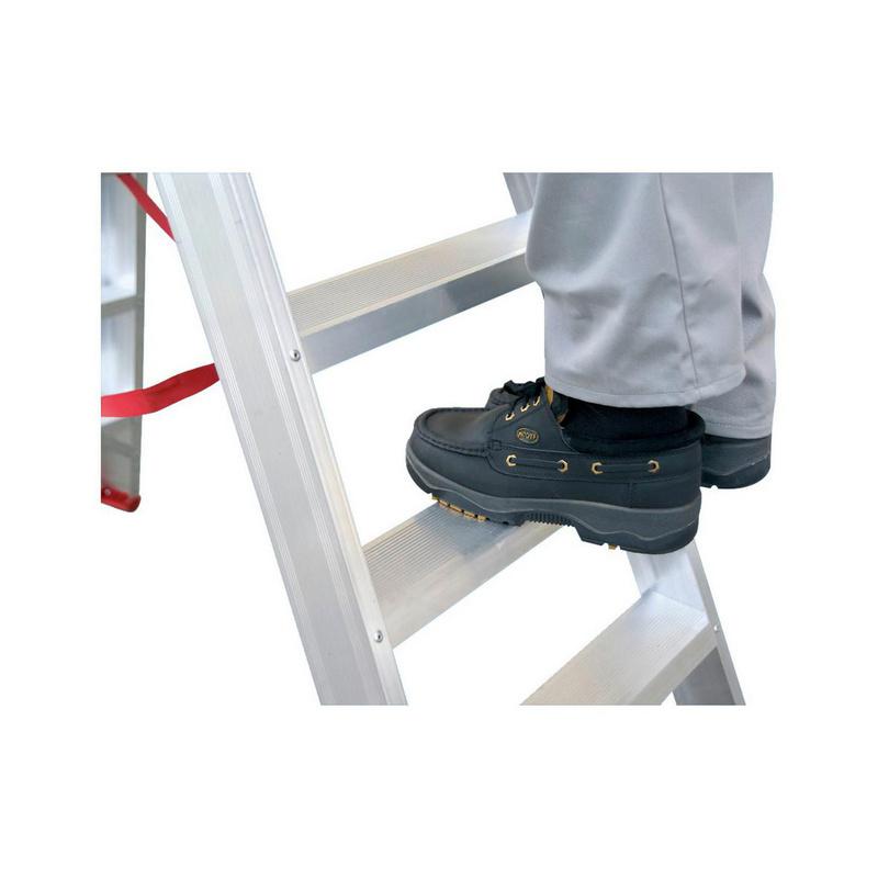 Hliníkový dvojitý rebrík Bezpečné našľapovanie na stupňoch s hĺbkou 90 mm - 0