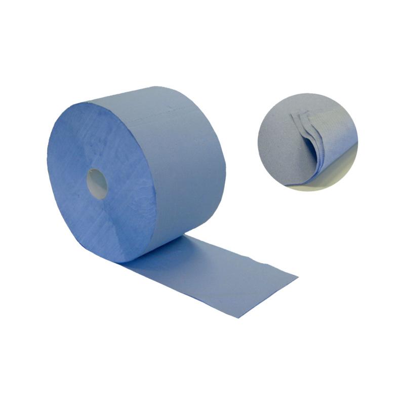 Rolo de papel de limpeza Plus Azul - ROLO DE PAPEL DE LIMPEZA PLUS AZUL