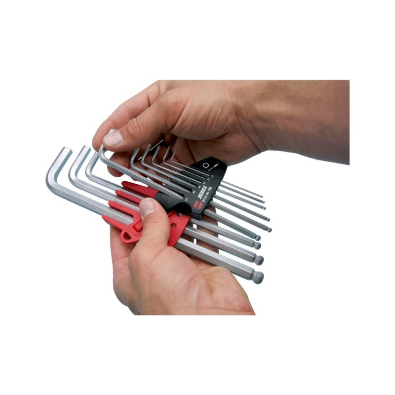 Набор шестигранных ключей, внутренний шестигранник - Н-Р-КЛЮЧЕЙ-ТОРЦ.Г-ОБРАЗ.-1,5-10-9ПР