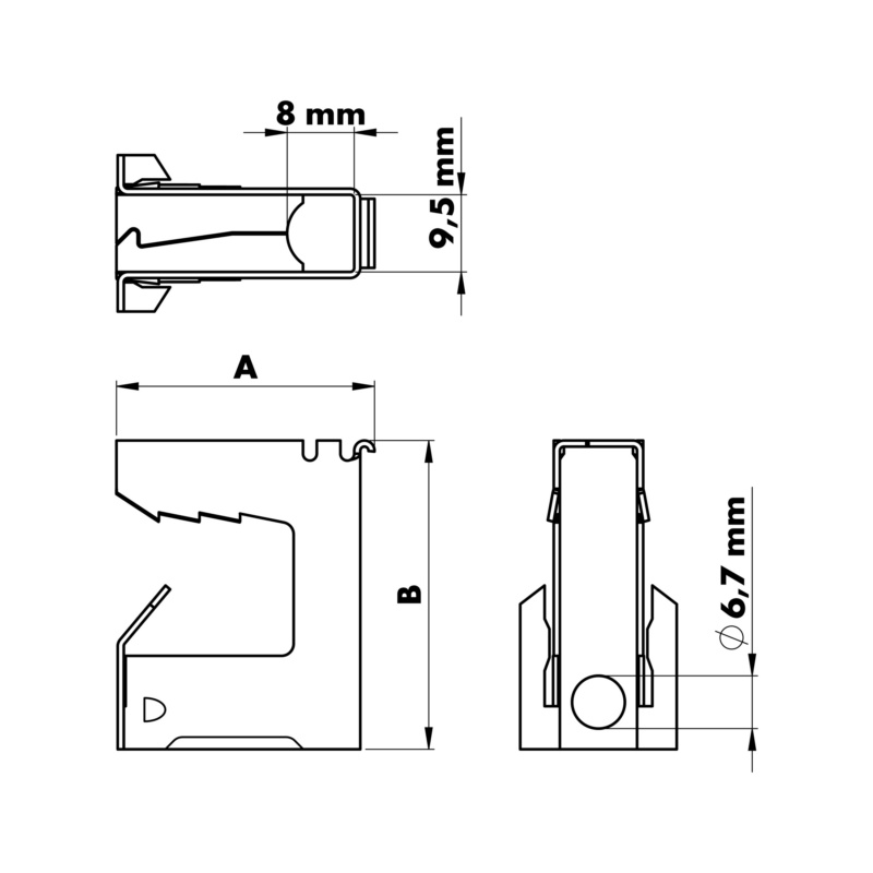 Grampo de suporte tipo LCT - GRAMPO RAPIDO LCT 8-16