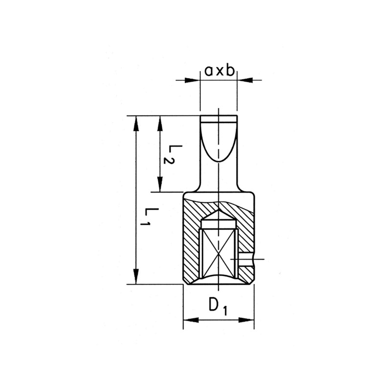 "Końcówka klucza nasadowego 1/4"" - GROT    1/4 - 5,5X1 L= 28 MM"