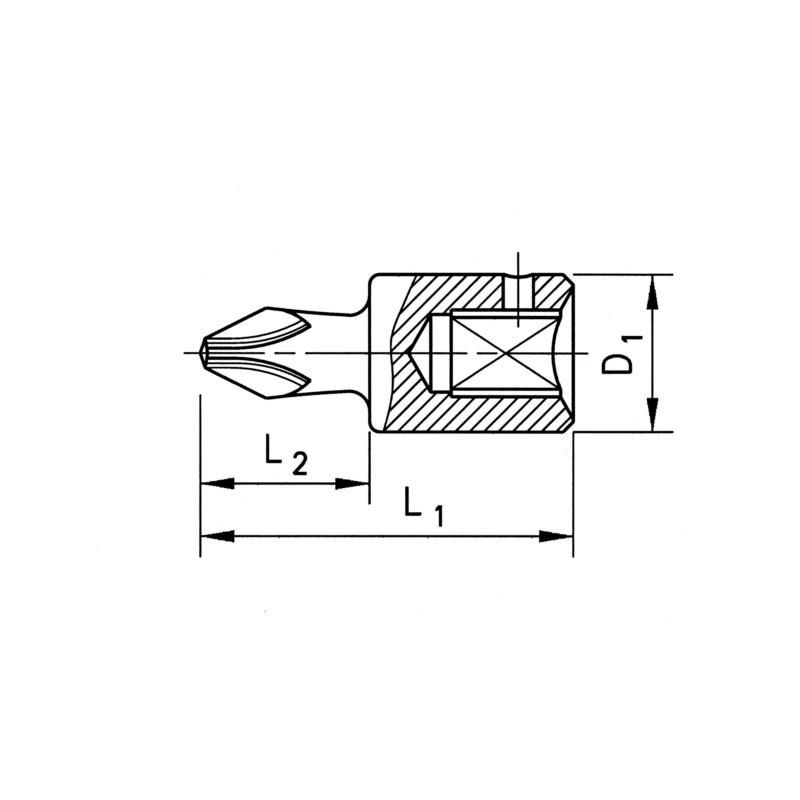 "Końcówka klucza nasadowego 1/4"" - NASADKA 1/4 H3 DL 28MM"