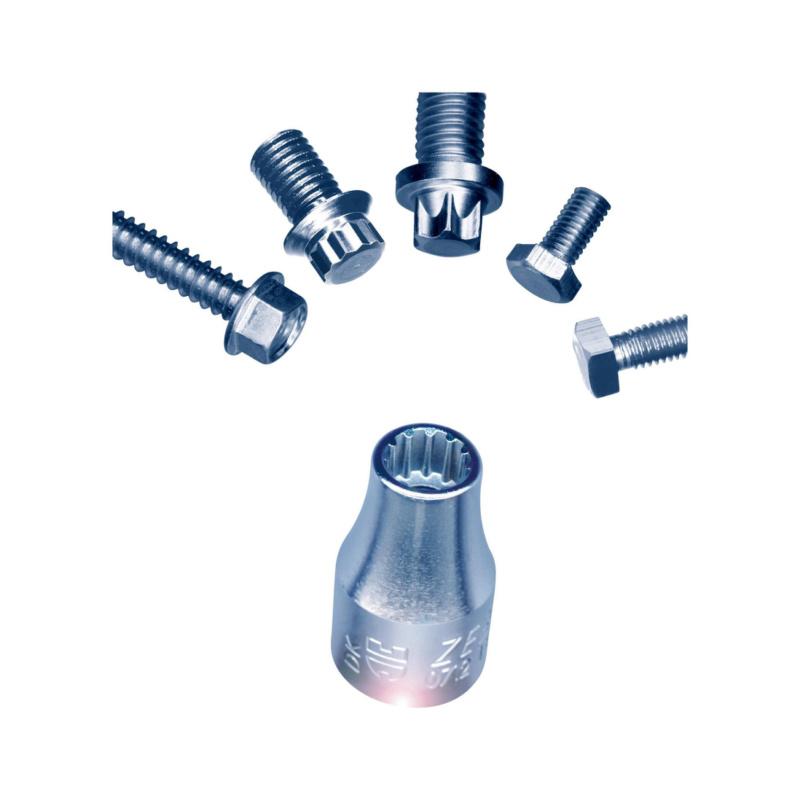1/4 Zoll Multisteckschlüssel-Sortiment - STESHSL-SORT-1/4ZO-23TLG