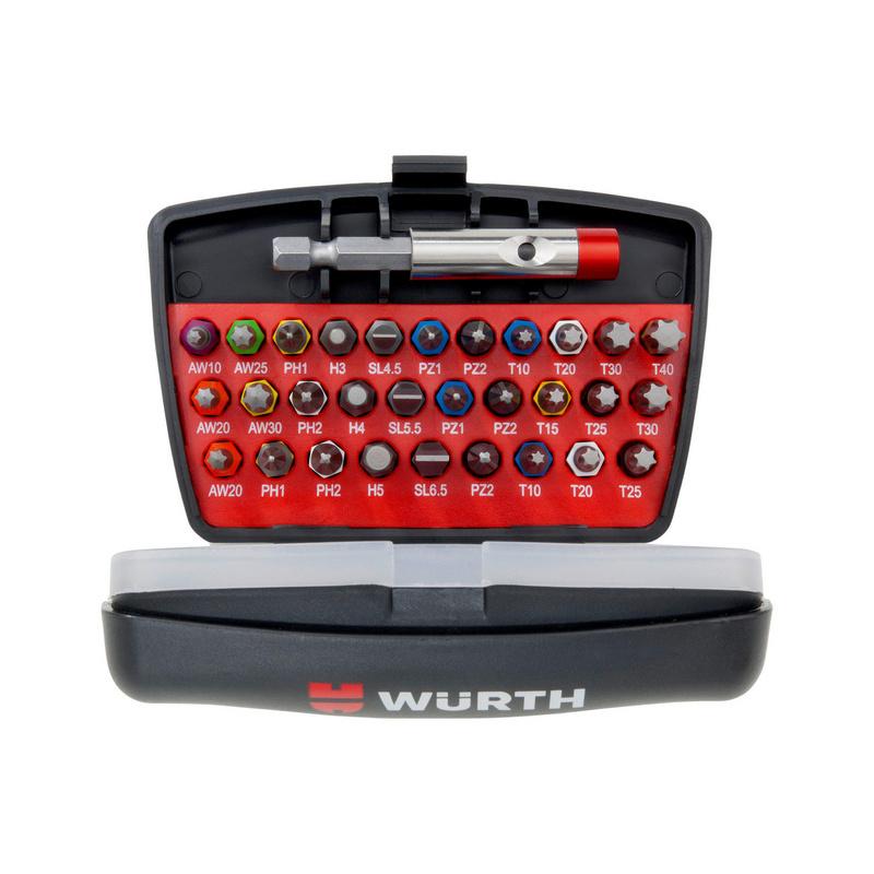Bit Box 31-teilig mit magnetischem Bithalter. Durch die praktische Aufbewahrung ideal für das Arbeiten im Handwerk.