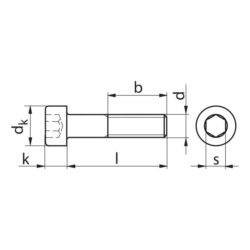 zylinderschraube mit innensechskant 00825 160. Black Bedroom Furniture Sets. Home Design Ideas
