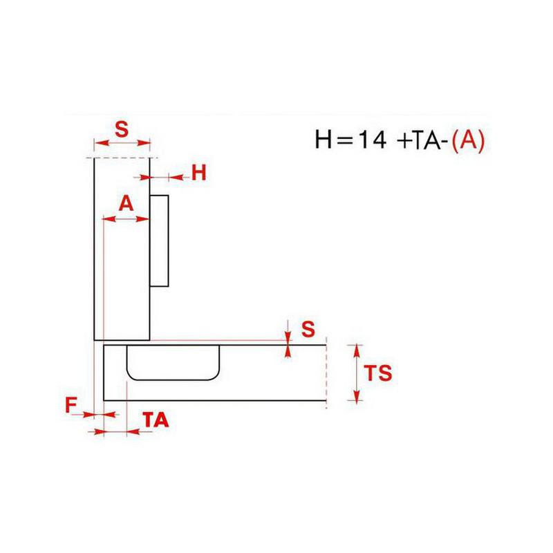 Furniture hinge  EasyClick - HNGE-EACL-D-SCRON-52/5,5-110-C00