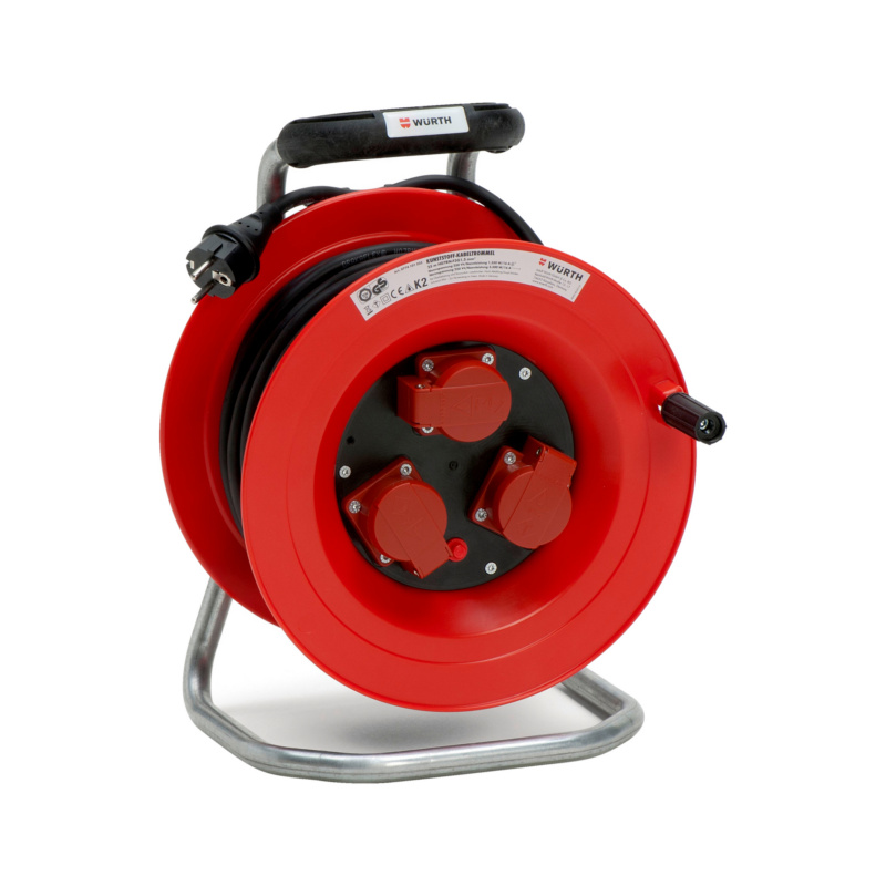 Kunststoff-Kabeltrommel 250 V - KBLTROMMEL-KST-(H07RN-F3G1,5)-25M
