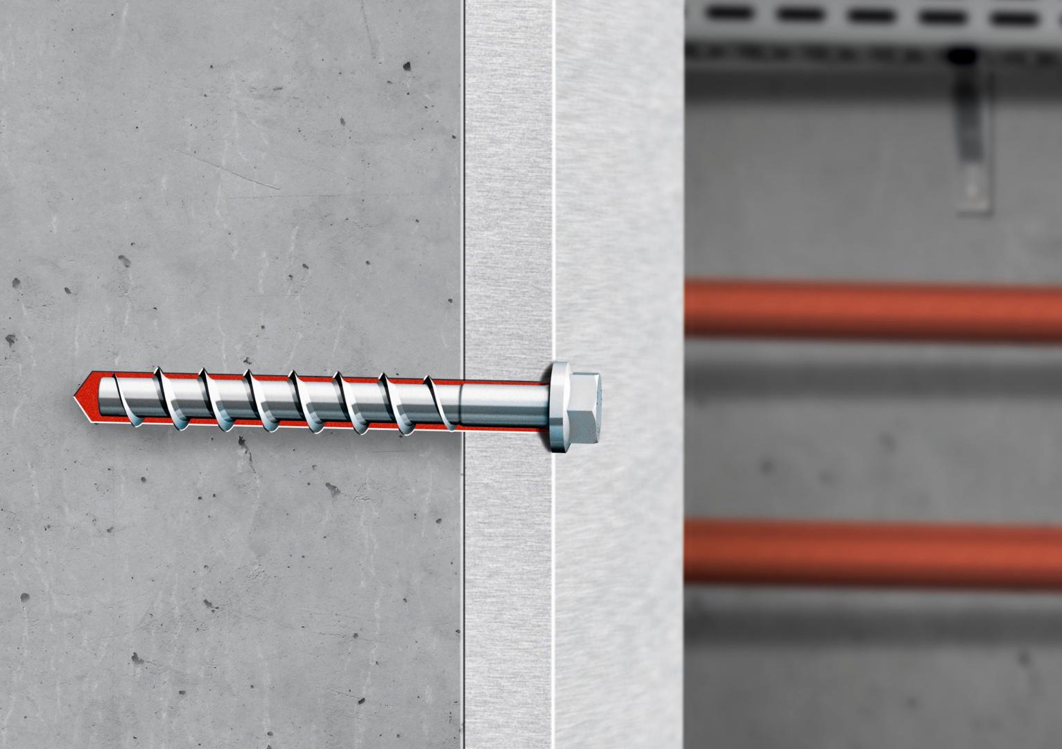 Titelbild Innovatives Dübelsystem kombiniert Betonschraube mit Injektionsmörtel