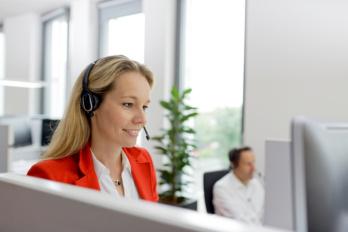 Kundensupport am Telefon