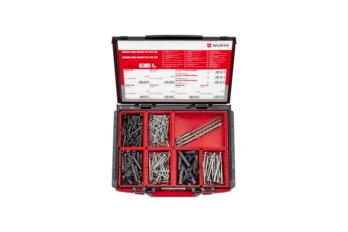 Kunststoff-Allzweckdübel SHARK®  Pro READY-TO-FIX Sortiment, 355-teilig im System-Koffer.