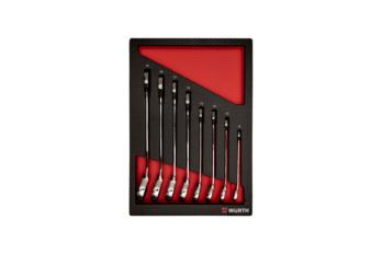 System-Sortiment 4.4 Ratschenring-maulschlüssel, 8-teilig