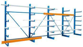 Kragarm-Regal zur übersichtlichen Lagerung und leichtem Zugang von langen sowie sperrigen Gütern