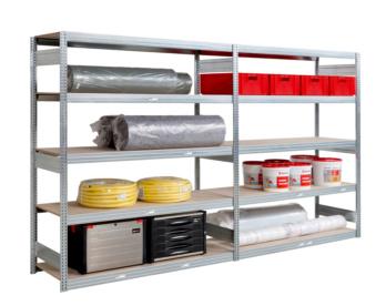 Großfach-Steckregal mit 5 Paneelen für sperrige und schwere Güter