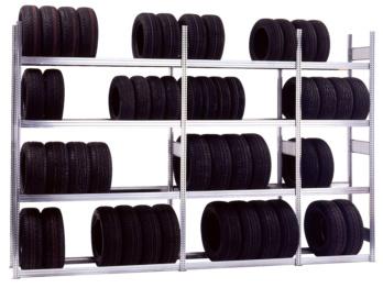 Reifen-Steckregal erhältlich mit 3 oder 4 Lagerebenen zur schonenden und sicheren Lagerung von Reifen