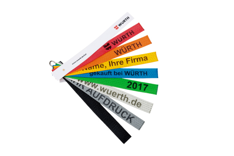 Ladungssicherung Fächer Farben Beschriftung