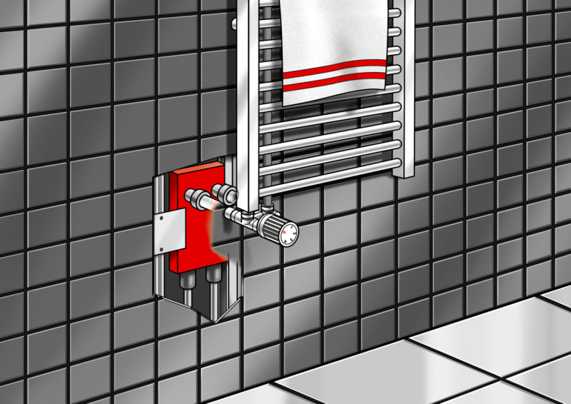 Waschbecken Installationsbox