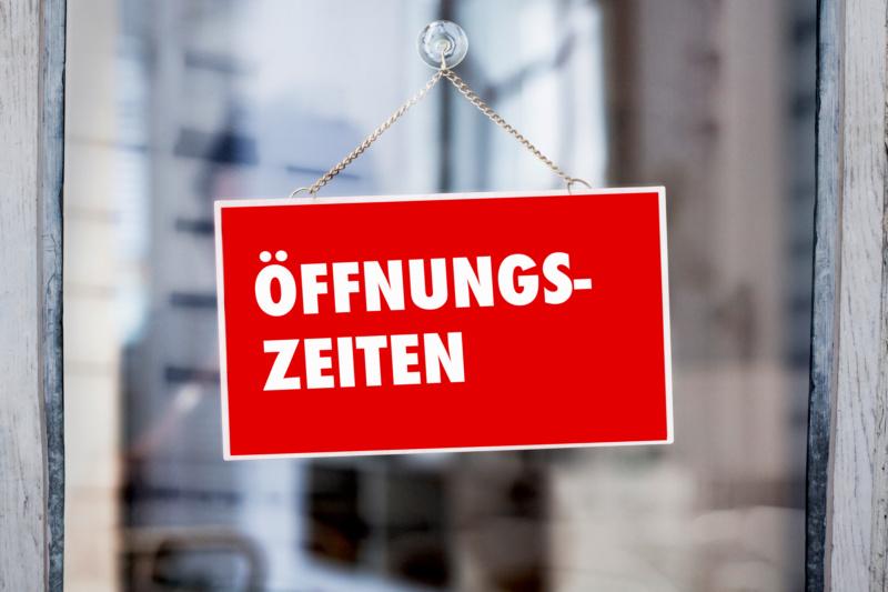 Achtung - geänderte Öffnungszeiten!